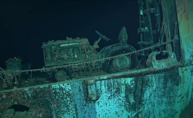 שרידי ההורנט שנמצאו (צילום: Navigea Ltd, R/V Petrel)