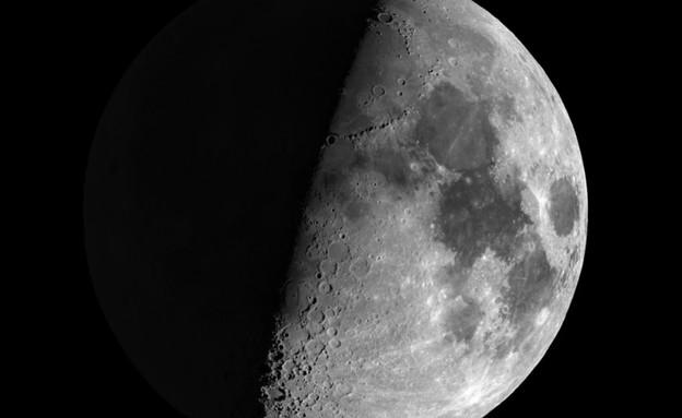 הירח בחלל (צילום: NASA)