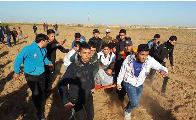 הפלסטינים דיווחו על שני הרוגים (צילום: צילומים פלסטיניים, חדשות)