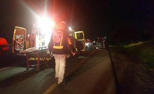 """תאונת דרכים, אילוסטרציה (צילום: דוברות מד""""א, חדשות)"""