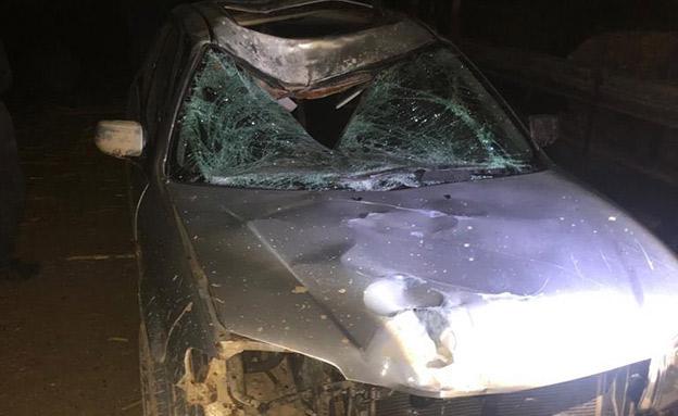 זירת התאונה, אמש (צילום: דוברות המשטרה, חדשות)