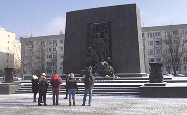 אנדרטה לזכר קורבנות השואה בוורשה (ארכיון (צילום: החדשות)