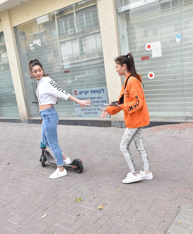 יעל שלביה ורומי פרנקל בתל אביב