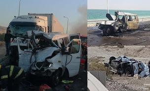 תאונות בכביש 90. ארכיון (צילום: כבאות והצלה, חדשות)