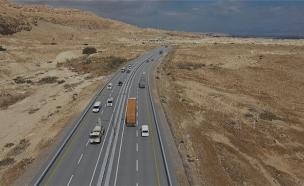 הדמיה של כביש 90 המורחב (צילום: משרד התחבורה, חדשות)