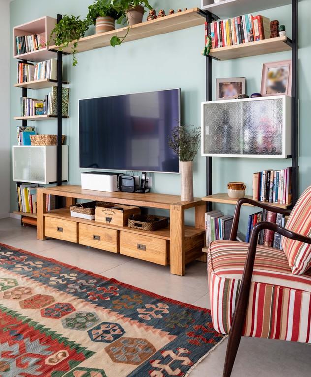 דירה בתל אביב, עיצוב סטודיו דירתי-לי, סלון