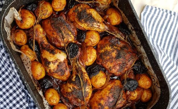 עוף לשבת של יונית צוקרמן (צילום: יונית סולטן צוקרמן, אוכל טוב)