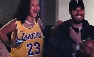 ריהאנה וחסן ג'אמיל במשחק כדורסל (צילום: אינסטגרם - rihneed)