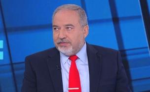 """אביגדור ליברמן ב""""פגוש את העיתונות"""" (צילום: החדשות)"""