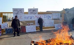 מאבק עובדי המפעל נגד הפיטורים (צילום: דוברות ההסתדרות, חדשות)