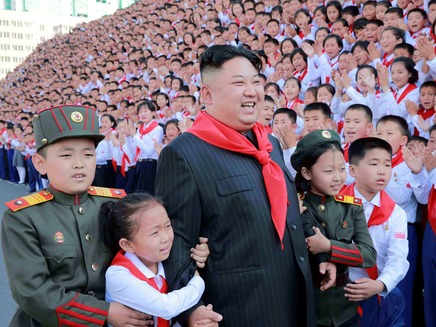 קים גונג און צפון קוריאה ילדים (צילום: רויטרס, חדשות)