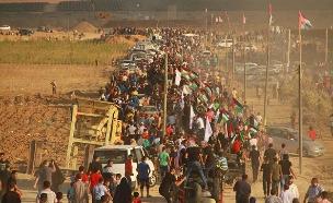 עשרות אלפים בגבול עזה. ארכיון (צילום: חדשות)