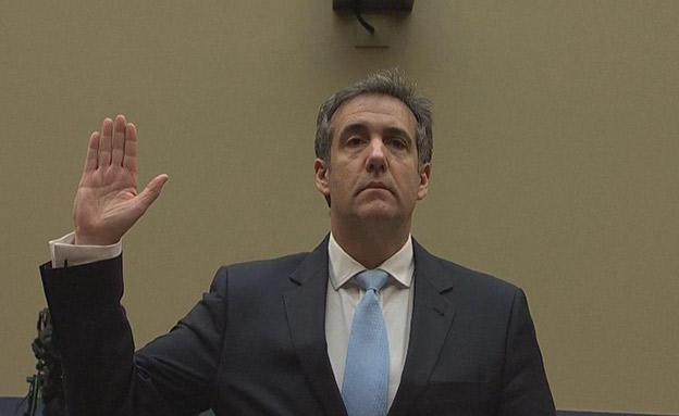 חי: מייקל כהן בשימוע בקונגרס (צילום: רויטרס, חדשות)