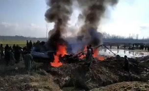 התרסקות המטוס בקשמיר (צילום: חדשות)