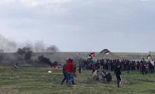 עימותים בגבול הרצועה, היום (צילום: ללא, חדשות)