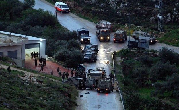 זירת הפיגוע סומך לדולב (צילום: פלסטינים, חדשות)