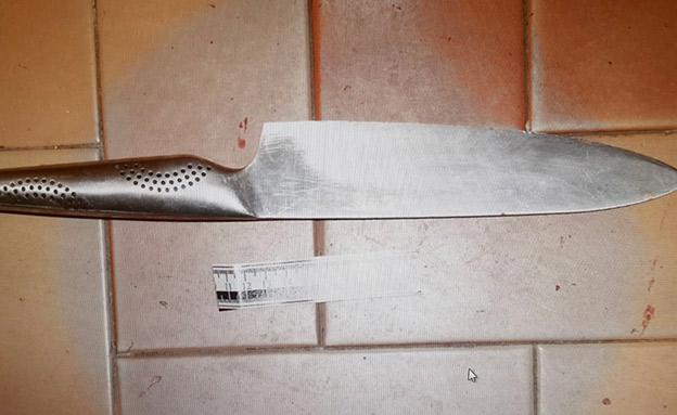 הסכין שנמצאה בזירה