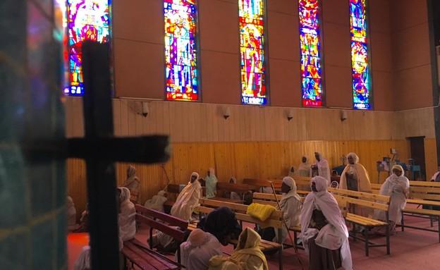 הצצה לתוך המנזר (צילום: מערכת mako חופש)