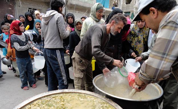 מחנה פליטים בסוריה על סף קריסה (צילום: רויטרס, חדשות)