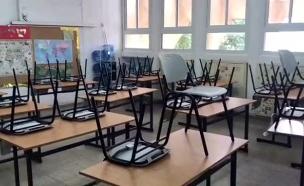 """תלמידים לא התייצבו בביה""""ס למבחני המיצ""""ב (צילום: חדשות)"""