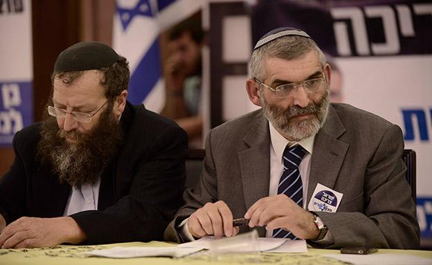 """ברוך מרזל ומיכאל בן ארי, """"עוצמה יהודית"""" (צילום: Tomer neuberg/FLASH90, חדשות)"""