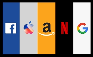 FAANG (צילום: facebook, apple, amazon, netflix, google)
