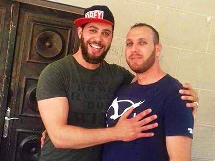עאסם ברגותי (מימין) ואחיו שחוסל