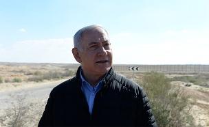 בנימין נתניהו בגבול ישראל-מצרים (צילום: אריאל חרמוני - משרד הביטחון, חדשות)