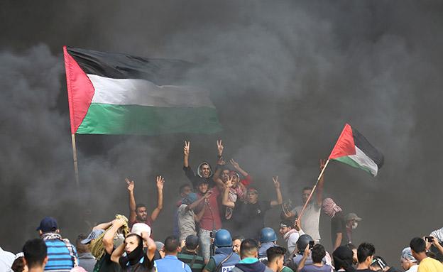 מהומות ליד גבול עזה (צילום: רויטרס, חדשות)