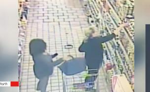 """האישה שגונבת תיקים מנשים בגוש דן (צילום: מתוך """"חדשות הבוקר"""" , קשת 12)"""