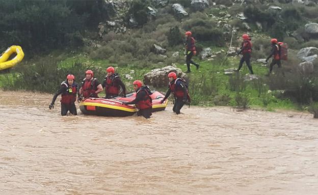 החליטו להמשיך באימון למרות תמרורי האזהרה (צילום: דוברות כבאות והצלה מחוז צפון, חדשות)