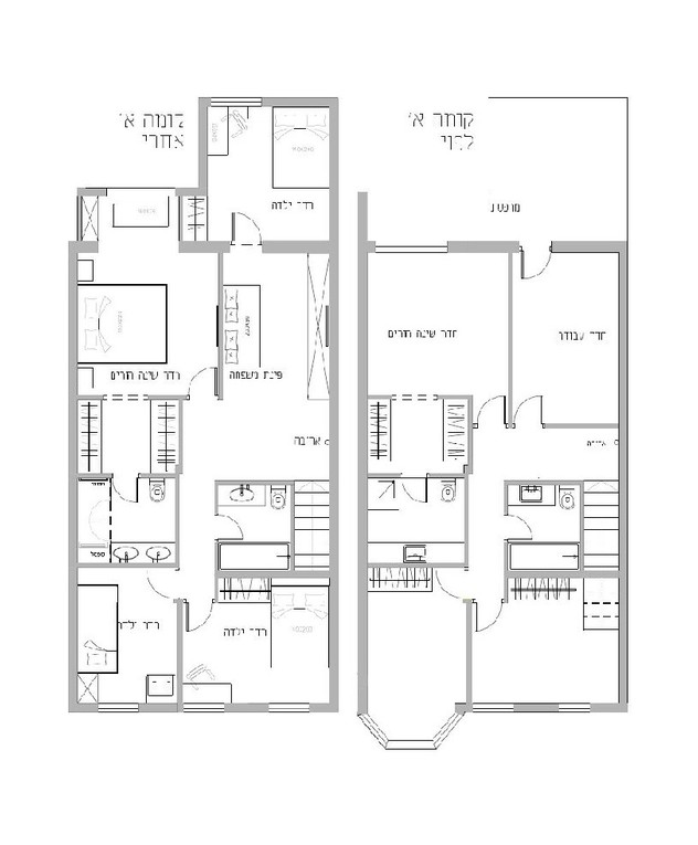 בית בשרון, ג, עיצוב נילי רונקין, תוכנית קומה א
