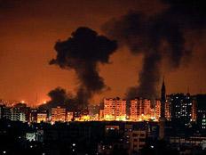 תקיפה בעיר עזה (צילום: חדשות)