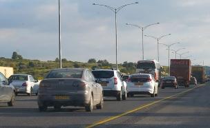 פקקים בכביש 6 (צילום: החדשות)