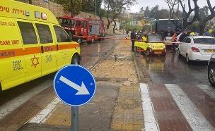 """זירת התאונה (צילום: נעם לוי דוברות מד""""א, חדשות)"""