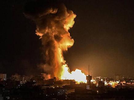 """תקיפת צה""""ל. אמש (צילום: דובר צהל, חדשות)"""