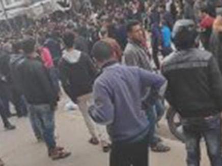 לראשונה מפגינים מתייצבים בגלוי נגד חמאס (צילום: חדשות)