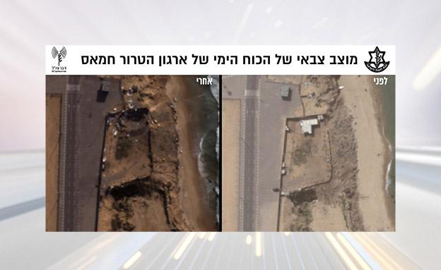 """בין המטרות שהותקפו: אתרים לייצור אמל""""ח ו (צילום: דובר צה""""ל, חדשות)"""