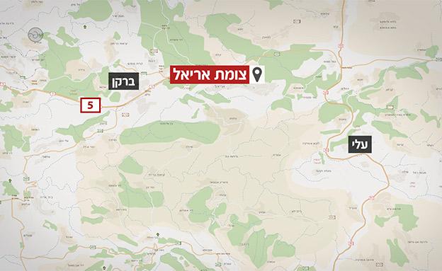 כאן התרחש הפיגוע (צילום: אתר מפה, החדשות)