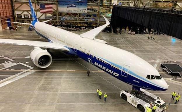 מטוס חדש (צילום: boeing777xfanpage, אינסטגרם)