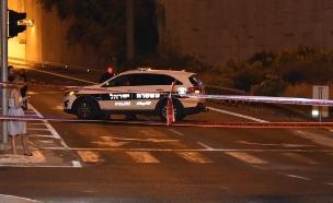 """זירת הרצח ליד ראשל""""צ (צילום: דוברות המשטרה, חדשות)"""