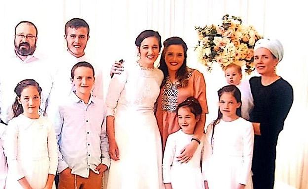 """הרב אטינגר ז""""ל בחתונת בתו הבכורה (צילום: באדיבות המשפחה, חדשות)"""