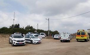 זירת הרצח בנתניה (צילום: דוברות מדא, חדשות)