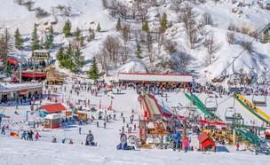 סקי בחרמון (צילום: אורי מגנוס)