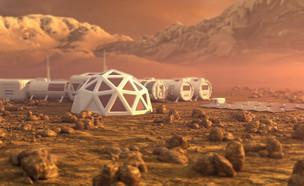 תחנת חלל במאדים (צילום: shutterstock | u3d)