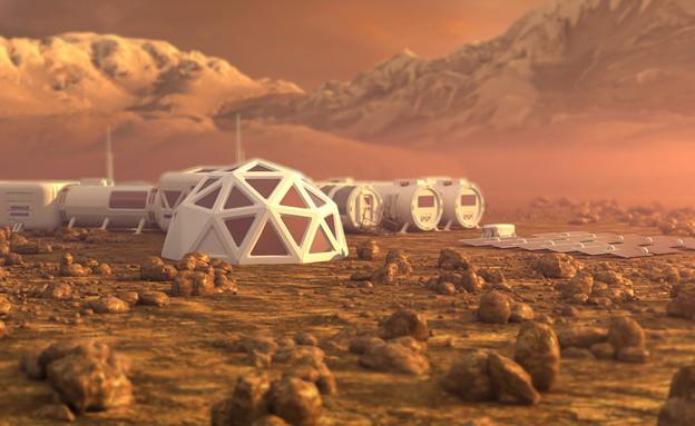 תחנת חלל במאדים (צילום:  none)