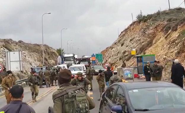 פיגוע ירי סמוך לגבעת אסף (צילום: החדשות)