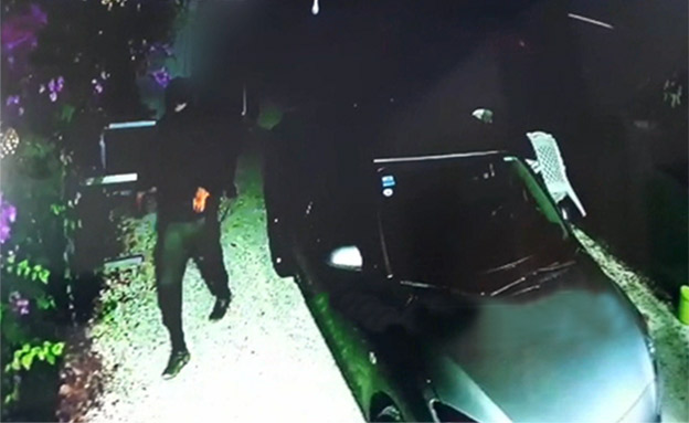 """שב""""ח שתועד פורץ לבית (צילום: מצלמות אבטחה, חדשות)"""