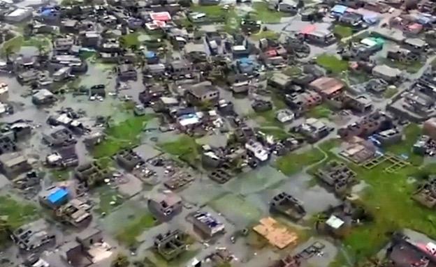 הסופה - והנזק, מהאוויר: צפו (צילום: רויטרס, חדשות)