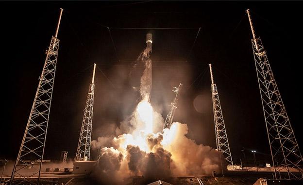 שיגור החללית לפני כחודש (צילום: SpaceX, חדשות)